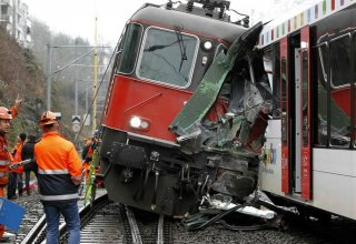 At least 49 people injured in collision of trains in Switzerland