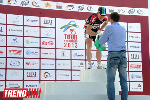 Azerbaijani team member wins 1st stage of international cycling race (PHOTO) - Gallery Image