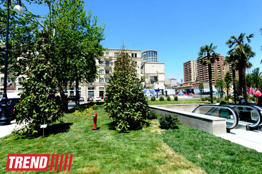 Bakının mərkəzində salınan ən böyük park (FOTO) - Gallery Image