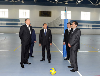 President Ilham Aliyev inspected Shamakhi Olympic Sports Complex after reconstruction (PHOTO)