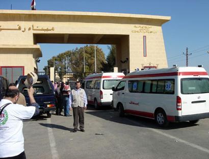 Египетские полицейские в знак протеста против похищения коллег закрыли границу с сектором Газа
