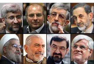 Iranian presidential candidates make statements after casting their votes