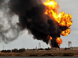 Fire occurred on the pipeline in Iran