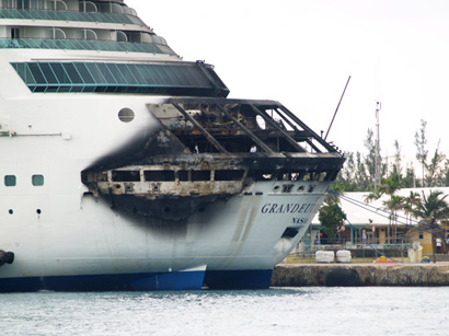 Fire on Caribbean cruise forces ship to port