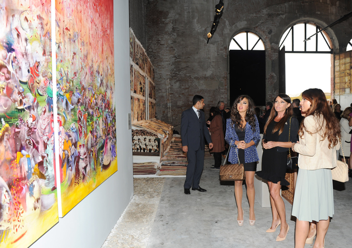 Azerbaijani First Lady participates in inauguration of modern art exhibition of Azerbaijan and neighbouring countries in Venice (PHOTO) - Gallery Image