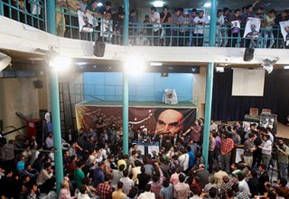 Numbers of people arrested during Rouhani's electoral meeting
