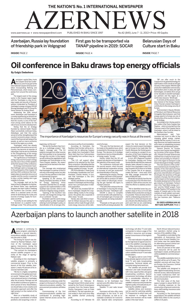 Oil conference in Baku draws top energy officials - Gallery Image