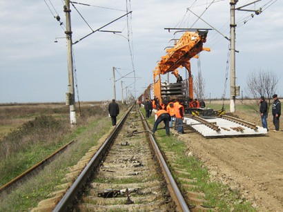 Azerbaijan repairs almost 90 per cent of the railway to the west