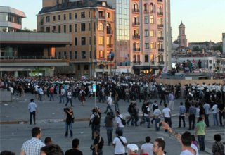 Taksim Square closed down