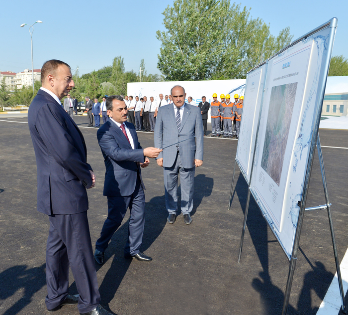 Azerbaijani President attends ceremony to start drinking water supply to Shirvan (PHOTO) - Gallery Image