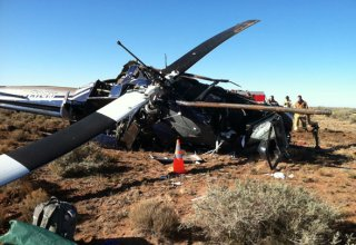Helicopter crashes in Kazakhstan