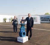 Azerbaijani President attends ceremony to start drinking water supply to Shirvan (PHOTO) - Gallery Thumbnail