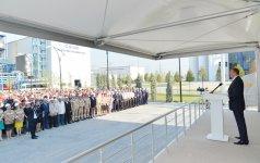 """Prezident İlham Əliyev Şirvanda """"Cənub"""" Elektrik Stansiyasının açılışında iştirak edib (FOTO) - Gallery Thumbnail"""
