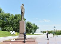 President Ilham Aliyev visits Tovuz district - Gallery Thumbnail