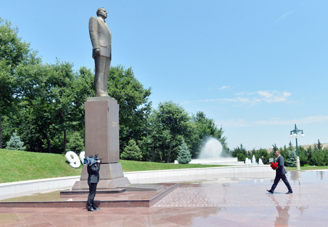 President Ilham Aliyev visits Tovuz district - Gallery Image