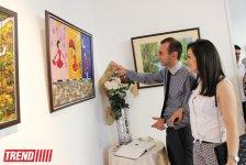 """В Баку открылась выставка Наргиз Бабаевой """"Вдохновение"""": """"На холсте можно остановить время"""" (фотосессия) - Gallery Thumbnail"""