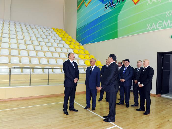 Президент Азербайджана принял участие в церемонии открытия Хачмазского Олимпийского спорткомплекса (ФОТО)
