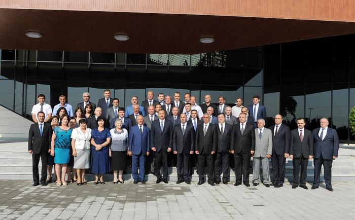 Президент Азербайджана принял участие в церемонии открытия Хачмазского Олимпийского спорткомплекса (ФОТО) - Gallery Image