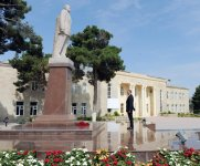 President Ilham Aliyev arrives in Shabran district (PHOTO) - Gallery Thumbnail