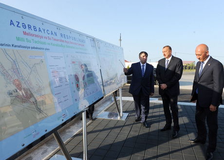 Drinking water and sewerage system commissioned in Siyazan city (PHOTO) - Gallery Image