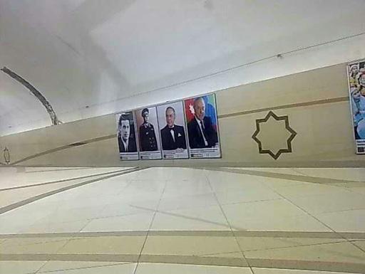"""""""Azadlıq prospekti"""" stansiyasında ulu öndər Heydər Əliyevin portretləri yerləşdirilib (FOTO) - Gallery Image"""