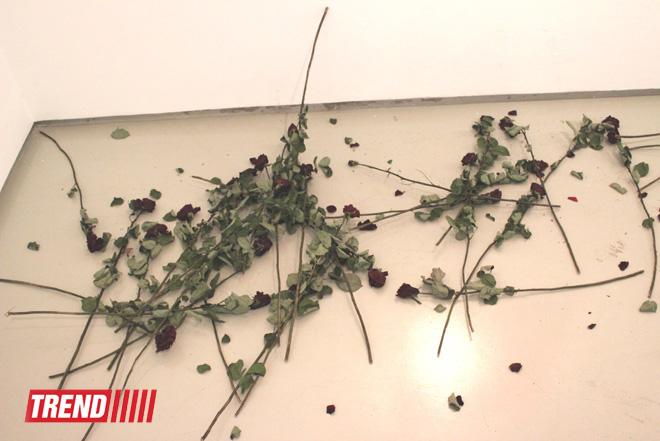 Человек в вулканической грязи, увядшие розы, разговор по душам - необычная выставка в Баку (фото) - Gallery Image