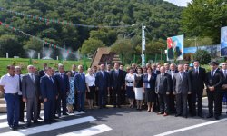 President Ilham Aliyev attends ceremony of pumping drinking water to Oghuz city (PHOTO) - Gallery Thumbnail