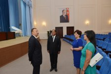 Azerbaijani President Ilham Aliyev attends opening of Balaken regional Culture Centre (PHOTO) - Gallery Thumbnail