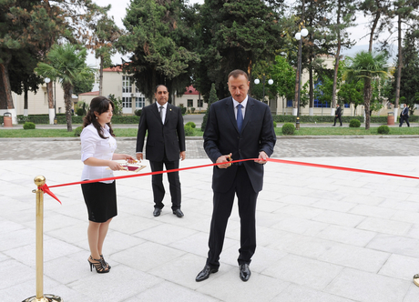Azerbaijani President Ilham Aliyev attends opening of Balaken regional Culture Centre (PHOTO)
