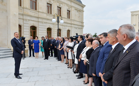 Azerbaijani President Ilham Aliyev attends opening of Balaken regional Culture Centre (PHOTO) - Gallery Image