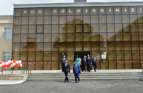 President Ilham Aliyev opens new building of Bahmatli village comprehensive school (PHOTO) - Gallery Image