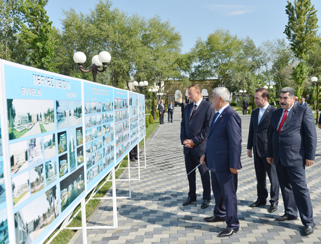 Azerbaijani President attends opening of Heydar Aliyev Center in Sabirabad District (PHOTO)