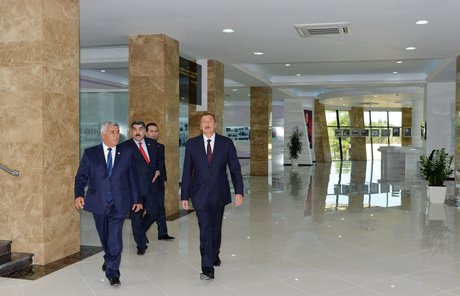Azerbaijani President attends opening of Heydar Aliyev Center in Sabirabad District (PHOTO) - Gallery Image