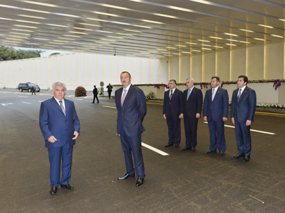 Azerbaijani President Ilham Aliyev attends opening of Gelebe Square road junction (PHOTO)
