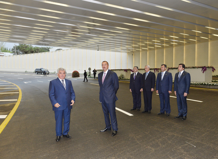 Azerbaijani President Ilham Aliyev attends opening of Gelebe Square road junction (PHOTO) - Gallery Image