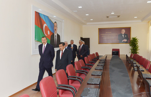 Azerbaijani President attends opening of new building of Salyan District Executive Authorities (PHOTO)