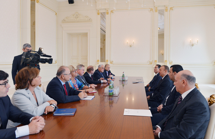 Azerbaijani President receives members of PACE Special Committee`s pre-election mission - Gallery Image