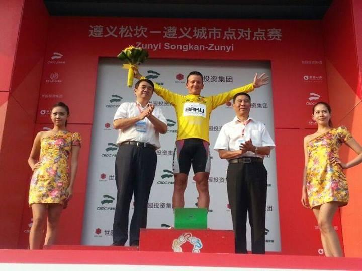 """""""Tour of China 1"""" beynəlxalq velosiped yarışının qalibi """"Synergy Baku Cycling Projekt"""" komandasının idmançısı olub"""