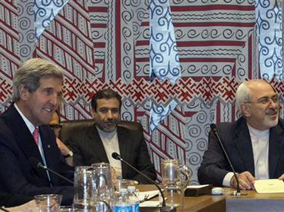 Iranian foreign minister and U.S. secretary of state meet in Germany