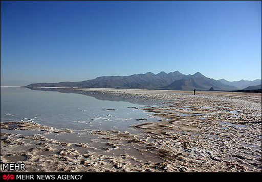 Iran's Urmia Lake being turned into a hub of dust storm