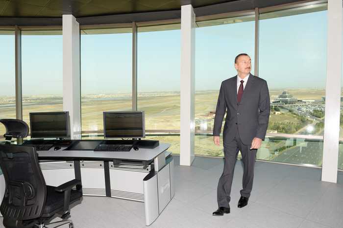 Azerbaijani President and his spouse attend opening of building of Air Traffic Control Center of Azerbaijan Airlines (PHOTO) - Gallery Image