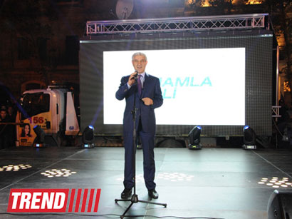 Azerbaijan's ruling party marks Ilham Aliyev's victory in presidential election (PHOTO)