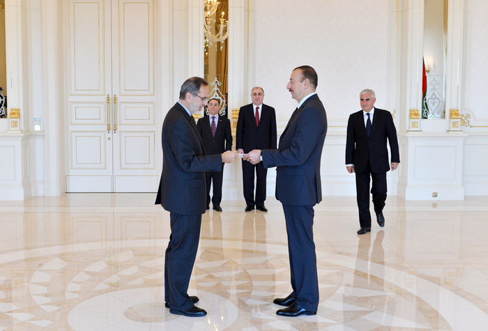 Azerbaijani President receives credentials of Brazilian Ambassador - Gallery Image