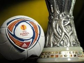 UEFA Europa League first 1/8 knockout round matches played