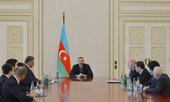 Azerbaijani President receives members of national men`s chess team, who won European championship, and specialists (PHOTO) - Gallery Thumbnail
