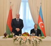 Azerbaijani president hosts official reception in honor of Belarus counterpart (PHOTO) - Gallery Thumbnail