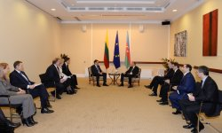 President Ilham Aliyev meets Lithuanian Premier (PHOTO) - Gallery Thumbnail
