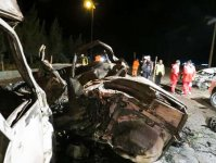 Some 14 people burned alive in four car crash in Iran (PHOTOS) - Gallery Thumbnail