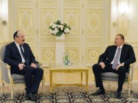 Azerbaijani president receives delegation led by president of Dagestan - Gallery Thumbnail