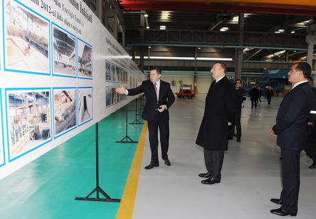 Президент Азербайджана принял участие в открытии заводов по производству алюминиевых полуфабрикатов  (ФОТО) - Gallery Image